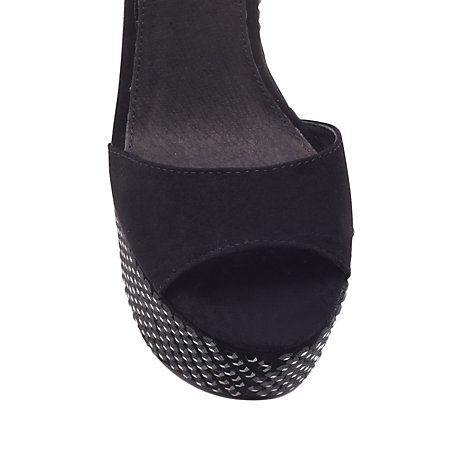 Buy Kurt Geiger Harlequin Platform Sandals, Black Online at johnlewis.com