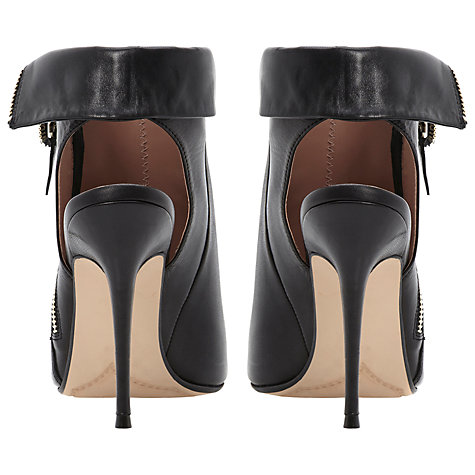 Buy Dune Daughter Peep Toe Sandals, Black Online at johnlewis.com