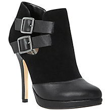 Buy Dune Nelly Cut-Out Heeled Shoe Boots, Black Online at johnlewis.com