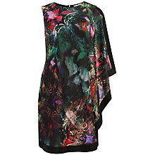 Buy Ted Baker Reamma One Sided Draped Tunic Dress, Black Online at johnlewis.com