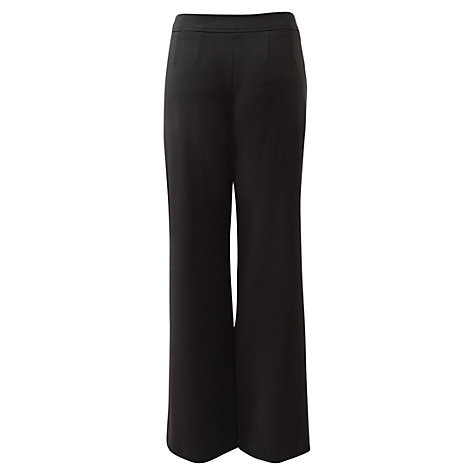Buy East Crepe Wide Trousers, Black Online at johnlewis.com