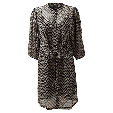 Buy East Silk Crinkle Dress, Black Online at johnlewis.com
