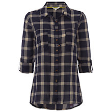 Buy White Stuff Large Check Shirt, Dark Sky Blue Online at johnlewis.com