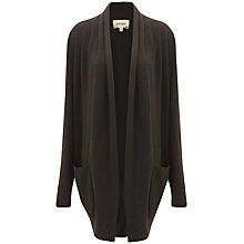 Buy Havren Cashmere Blend Drape Cardigan, Chocolate Online at johnlewis.com