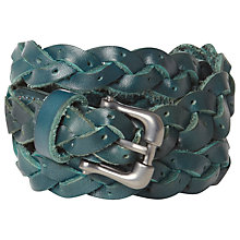Buy White Stuff Skinny Belt, Dark Teal Online at johnlewis.com