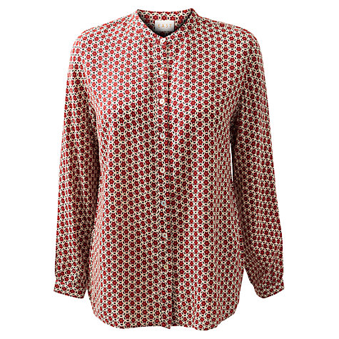 Buy East Astrid Mini Print Shirt, Merlot Online at johnlewis.com