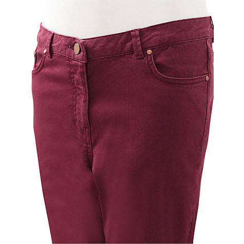 Buy East Stretch Jeans, Merlot Online at johnlewis.com