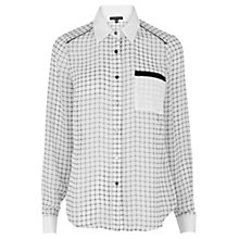 Buy Warehouse Check Patterned Shirt, White Online at johnlewis.com
