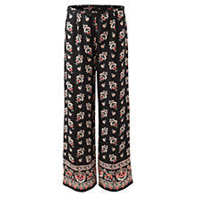 Buy East Amina Silk Trousers, Black Online at johnlewis.com