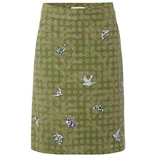 Buy White Stuff Daisy Chain Skirt, Dark Moss Green Online at johnlewis.com