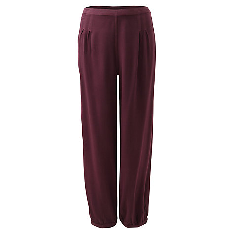 Buy East Merlot Harem Trousers Online at johnlewis.com