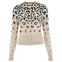 Buy Havren Ocelot Print Cardigan, Cream Online at johnlewis.com