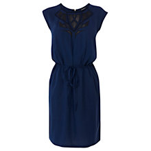 Buy Warehouse Faux Leather Applique Dress, Bright Blue Online at johnlewis.com