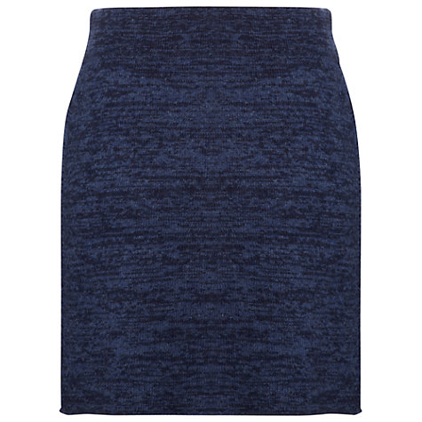 Buy White Stuff Moonrise Knit Skirt, Dark Sky Blue Online at johnlewis.com