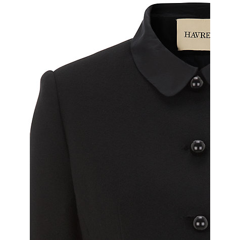 Buy Havren Satin Collar Dinner Jacket, Black Online at johnlewis.com
