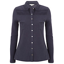 Buy White Stuff Rooster Shirt, Dark Sky Blue Online at johnlewis.com