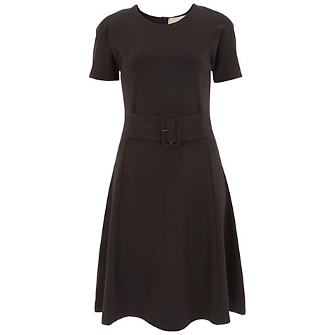 Buy Havren Buckle A Line Dress, Chocolate Online at johnlewis.com