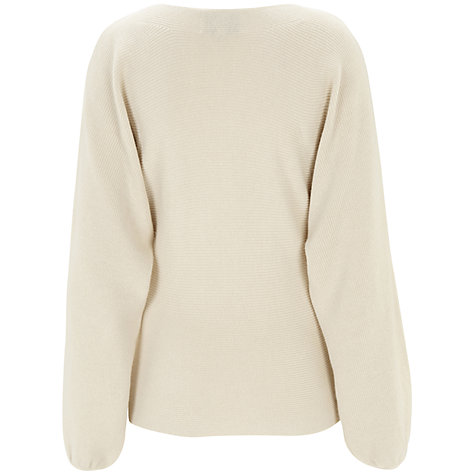 Buy Havren Batwing Slash Neck Jumper, Cream Online at johnlewis.com