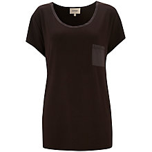 Buy Havren Short Sleeve Long T-Shirt, Chocolate Online at johnlewis.com