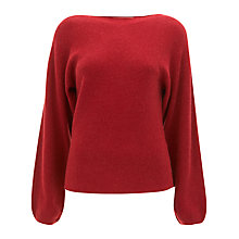 Buy Havren Batwing Jumper, Deep Red Online at johnlewis.com