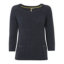 Buy White Stuff Owl Jumper, Dark Sky Blue Online at johnlewis.com