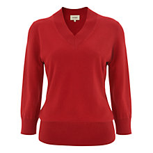 Buy Havren Oversized Batwing Jumper, Bright Red Online at johnlewis.com