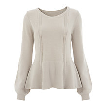 Buy Havren Pointelle Paneled Jumper, Neutral Online at johnlewis.com
