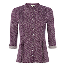 Buy White Stuff Beady Bird Shirt, Deep Purple Online at johnlewis.com