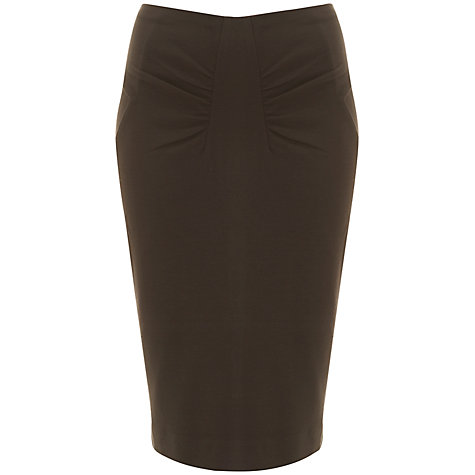 Buy Havren Classic Pencil Skirt, Chocolate Online at johnlewis.com