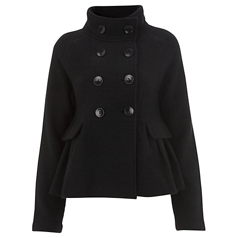 Buy Havren Double Breasted Cape Sleeve Coat, Black Online at johnlewis.com