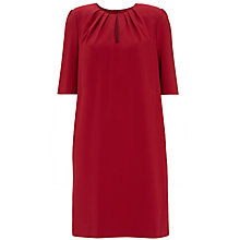 Buy Havren Tuck Neckline Shift Dress, Deep Red Online at johnlewis.com