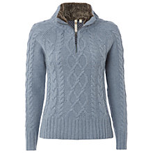 Buy White Stuff Ohio Half Zip Jumper, Sky Blue Online at johnlewis.com