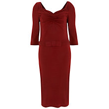 Buy Havren Drape Neck Jersey Dress, Deep Red Online at johnlewis.com