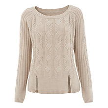Buy Havren Cable Knit Jumper, Stone Online at johnlewis.com