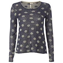 Buy White Stuff Spots Away Jumper, Dark Sky Blue Online at johnlewis.com
