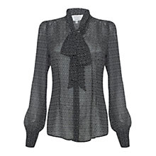 Buy allegra by Allegra Hicks Natalie Blouse, Geometric Black Online at johnlewis.com