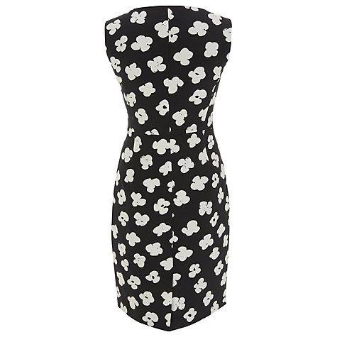 Buy Havren Deep Pocket Daisy Print Dress, Black/White Online at johnlewis.com
