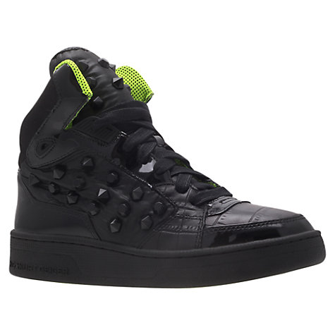 Buy KG by Kurt Geiger Lexus High-Top Trainers, Black Online at johnlewis.com