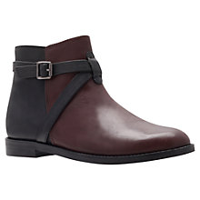 Buy KG by Kurt Geiger Stirrup Ankle Boots, Black / Brown Online at johnlewis.com