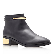 Buy KG by Kurt Geiger Vice Leather Ankle Boots, Black/Gold Online at johnlewis.com