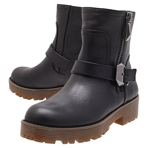 Buy KG by Kurt Geiger Tough Ankle Boots, Black Online at johnlewis.com