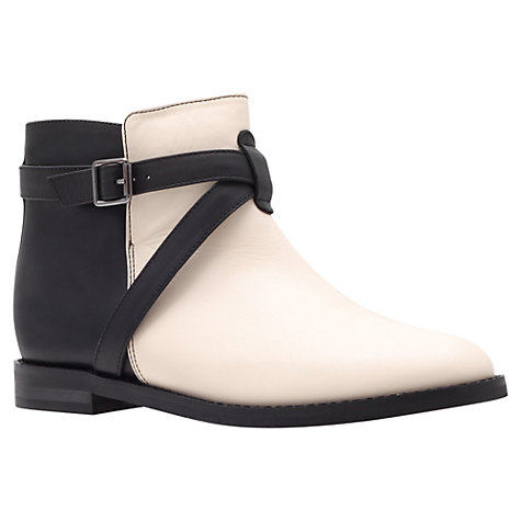 Buy KG by Kurt Geiger Stirrup Ankle Boots, Black/White Online at johnlewis.com