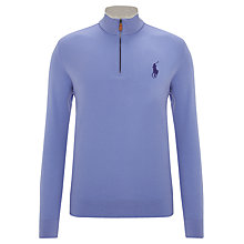 Buy Polo Golf by Ralph Lauren Zip-Up Jersey Top, Blue Rain Online at johnlewis.com