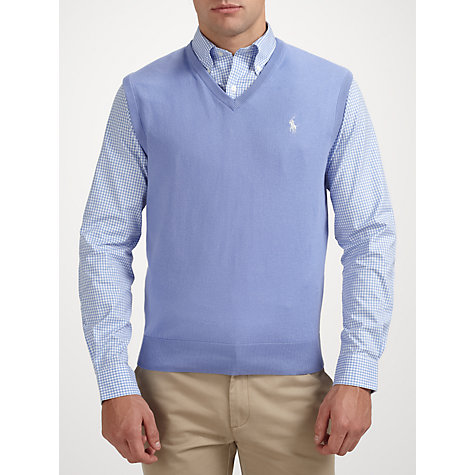 Buy Polo Golf by Ralph Lauren V-Neck Cotton Tank Top Online at johnlewis.com