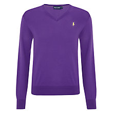 Buy Polo Golf by Ralph Lauren Cotton V-Neck Jumper Online at johnlewis.com