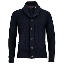 Buy Ted Baker Jowalk Cotton Rich Cable Shawl Cardigan Online at johnlewis.com