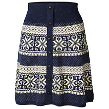 Buy Fat Face Patterned Knitted Skirt, Navy Online at johnlewis.com