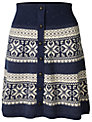 Fat Face Patterned Knitted Skirt, Navy