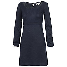 Buy Fat Face Lurex Cable Knitted Dress, Navy Online at johnlewis.com