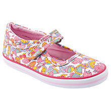 Buy Start-rite Tutti Fruity Canvas Shoes, White/Multi Online at johnlewis.com